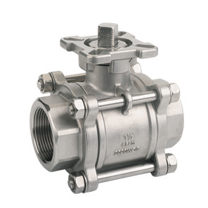 High Mounting Pad 3Pc Ball Valve